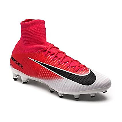 1ff471313cd Image Unavailable. Image not available for. Color  Nike Mercurial Superfly  V AG-PRO(831955-601) Racer Pink -Black