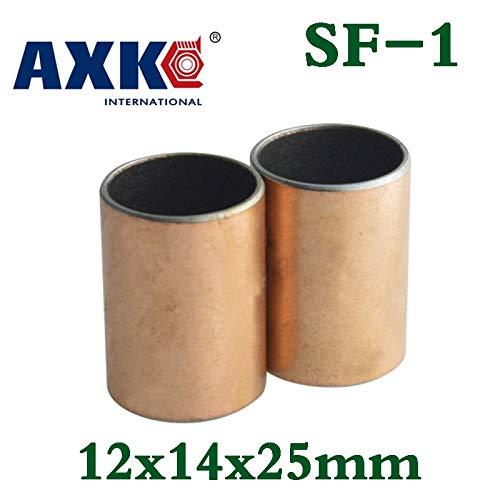 Length: 121515 12X15X15 Ochoos 10pcs Sf1 Sf-1 1225 10pcs1225 121425 Self Lubricating Composite Bearing Bushing Sleeve 12x14x25mm