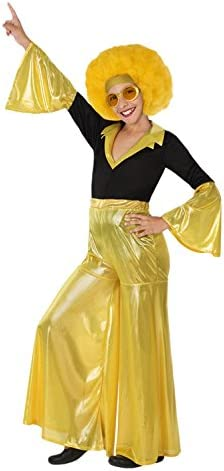 Atosa-28324 Disfraz Disco, color amarillo, 7 a 9 años (28324 ...
