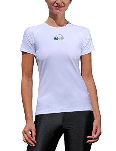 iQ-Company Damen UV-Schutz T-Shirt IQ 300 Watersport, White, M, 668122_2100