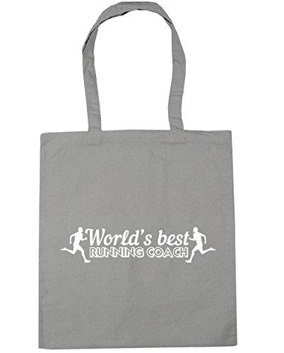 HippoWarehouse - Bolsa de playa de Algodón  Mujer gris claro