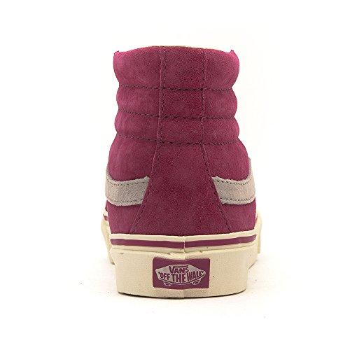 VANS Classic SK8-HI slim Scochguard 3M Sneaker skate leater XH7DO2 rot