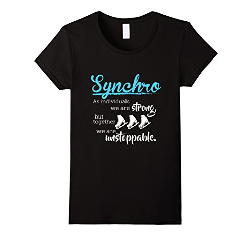 womens-synchro-skating-together-we-are-unstoppable-t-shirt-small-black
