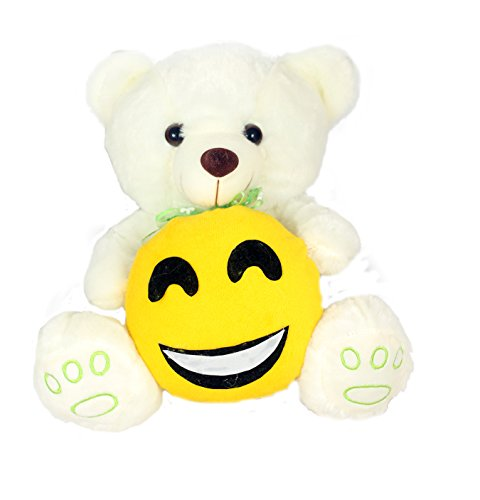 Tickles White Teddy with Smile face
