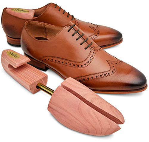 Stratton Mens Adjustable Split Toe Premium Cedar Shoe Tree - Made in the USA (X-Large)