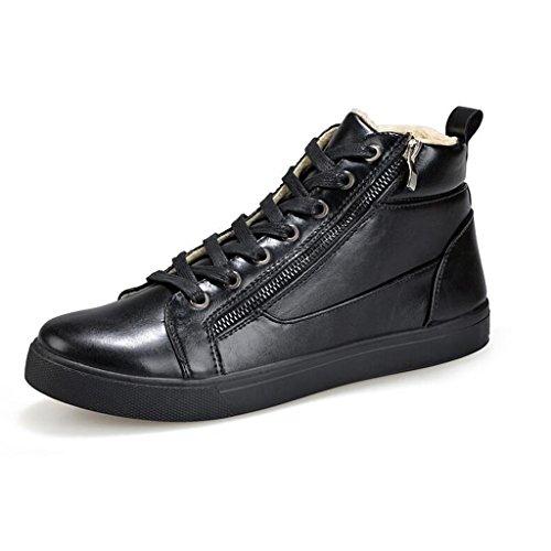 Herren Winter Cotton Boots Plus Plüsch Keep Warm Snow Boots Rutschfeste Dämpfung Walking Trainer Schuhe 38-43 Black