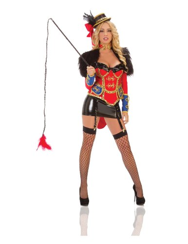 Starline Women's Ring Leader Costume Set, Red/Black, Small (Ladies Circus Costumes)