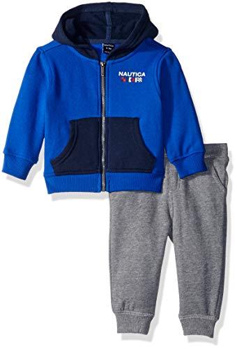 (Nautica Sets (KHQ) (RJ7QG) Kids & Baby 2 Pieces Jog Set, Blue/Gray 6-9 Months)