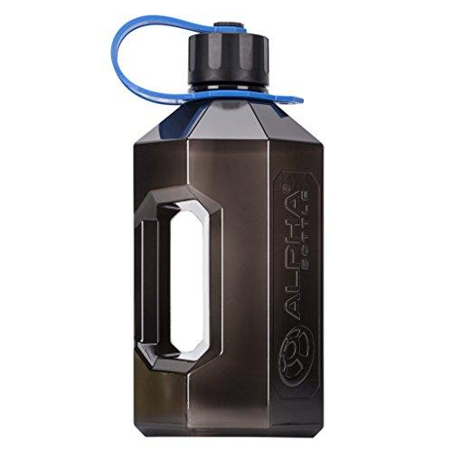 jarra negra ahumada 1,6 l + coctelera 750 ml 2,4 L botella de agua 1,6 L 750 ml o 1000 ml de prote/ína Alpha Bottle XL o XXL