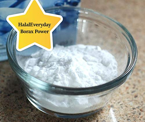 HalalEveryday Borax - 1/2 lb (8oz) bag - Sodium Borate - mineral with anti-fungal properties - Great as anti-fungal foot soaks - used in detergents, household cleaning products -Great for making slime