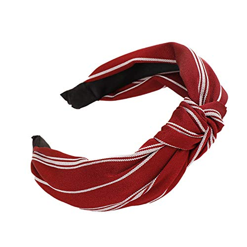 Dressin Boho Headbands for Women Girls Ladies Twisted Bow Knot Hair Band Sweet Cute Beach Hair Accessory Red