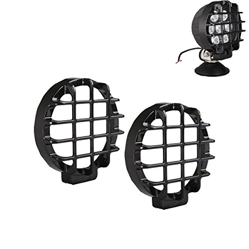 """Lightronic 2PCS 6"""" LED lens Covers For 70W Auxiliary LED Lights"""