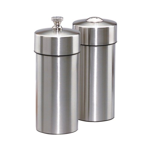Chef Specialties Steel Shaker (Chef Specialties 5.5 Inch Futura Stainless Pepper Mill and Salt Shaker Set)