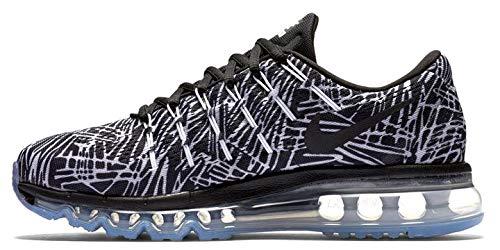 Nike Women's Air Max 2016 Print Running Shoes Black White (7) (Print Max Women Nike Air)