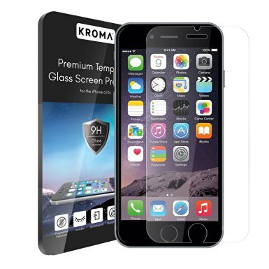 iPhone 6S Glass Screen Protector, Kroma™ [Krystalin Series] World's Thinnest Ballistic Glass, 99.9% Touch-screen Accuracy, Ultimate Protection from Bumps, Drops, and Scrapes (Lifetime - Toughest World The In Glass