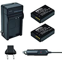Bonacell 2PCs LP-E10 Battery 1600mAh and Battery Charger Kit for Canon EOS Rebel T3, T5, T6, Kiss X50, Kiss X70, EOS 1100D, EOS 1200D, EOS 1300D Digital Camera