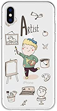 ASJK Caricatura Linda profesión Profesora Funda de teléfono Suave Coque para iPhone 5 6 6s x XR Plus Funda Transparente para iPhone 8 7 Plus para iPhone XS MAX j5098: Amazon.es: Hogar