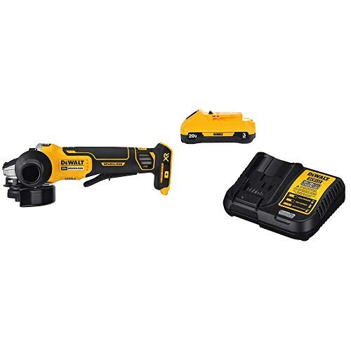 DEWALT DCG413B 20V MAX Brushless Cut Off Tool/Grinder (Tool Only) with DCB230C 20V Battery Pack
