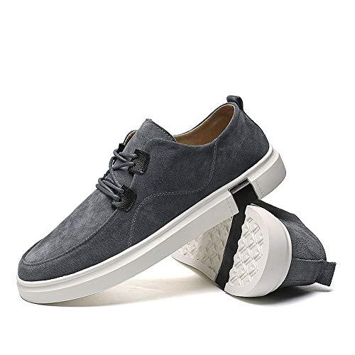 Business Uomo Xiaojuan Grigio EU Scarpe shoes Casual Dimensione Chic Grigio Pelle Outsole comoda Color Sneaker 39 Fashion Oxford Uomo BwtwSP