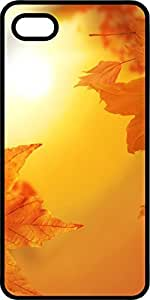 Autumn Fall Colors Leaves Black Plastic Decorative iphone 6 plus Case