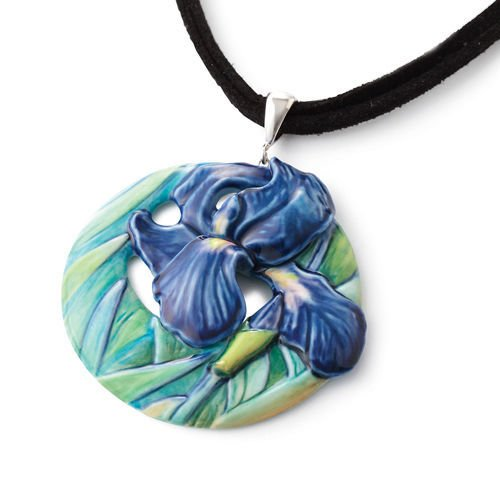 Franz Porcelain Collection Van Gogh Iris Necklace