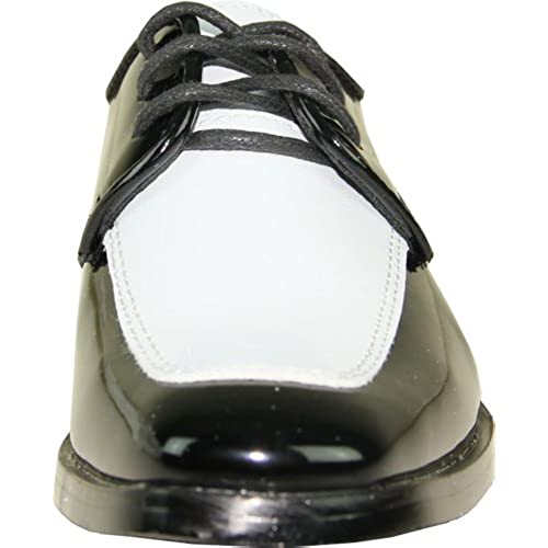 033479d41c4 VANGELO Boy Tuxedo Shoe TUX-3K Two-Tone Square Toe Wrinkle Free Material for