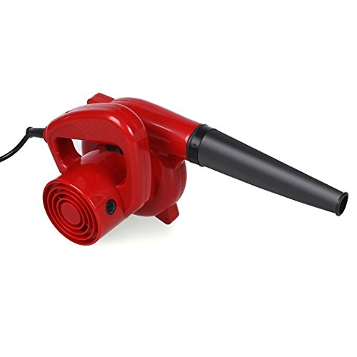 600W Mini Handheld Electric Blower Dust Leaf Blower Vacuum for Shop Garage Garden Computer Car House (red) (600W) from evokem