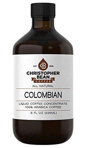 Colombian Cold Brew Or Hot Liquid Coffee Concentrate 8 Ounce Bottle