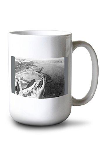 Lantern Press Havana, Cuba Harbor with Part of Morro Castle Photograph (15oz White Ceramic Mug)