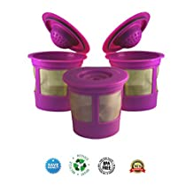 canFly Reusable K-cup Coffee Filters Compatible with ALL Keurig 1.0 and Keurig 2.0 Single Cup Brewing Home Systems