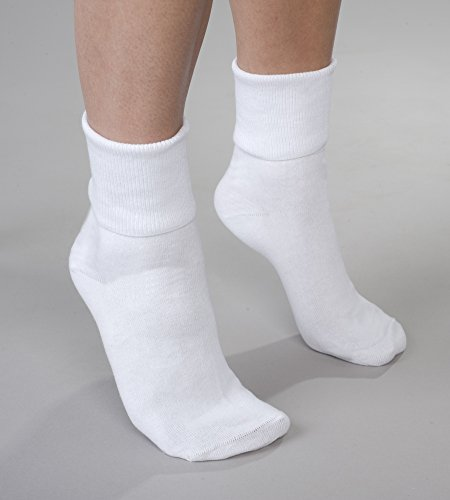 White Buster Brown Cotton Socks - Fits Shoe Sizes ()