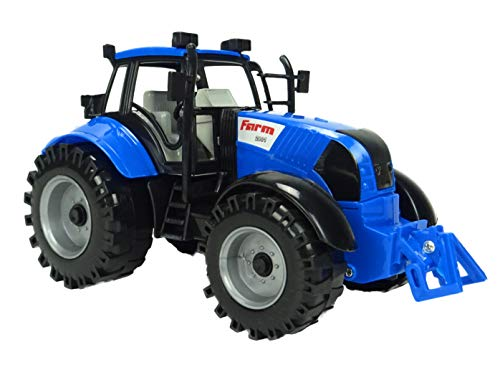 Toyland Friction Powered Farm Tractor with Opening Bonnet (Blue)