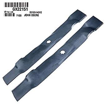 GX22151 - Cuchillas para cortacésped John Deere D100 D105 D110 ...