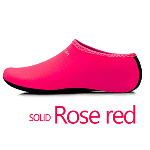 Mens Swim Yoga JIASUQI Womens Socks Red Beach Shoes and for Sports Aqua Skin Surf Exercise Rose Barefoot Water Classic Kids a6RqRxt