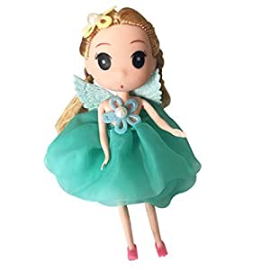 Artswow Fashion Baby Doll Keychain - Decorative Korean Wedding doll for kids boys girls women Birthday Doll Gifts (Green)