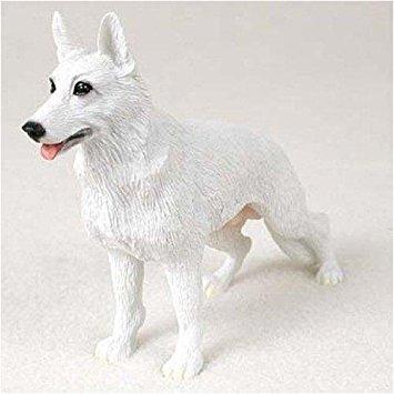 German Shepherd, White Original Dog Figurine (4in-5in)