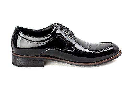 CABALLEROS Zapatos De Cuero Italiano Inteligente Brillante Estilo