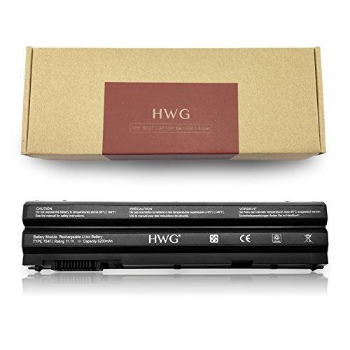 HWG T54FJ E6420 Battery (6-Cell) For Dell E5420 E5430 E5520 E5530 E6420 E6430 E6520 E6530, Compatible P/N:312-1163 312-1242 M5Y0X HCJWT KJ321 NHXVW PRRRF T54F3 T54FJ X57F1 (11.1V 5200mAh)