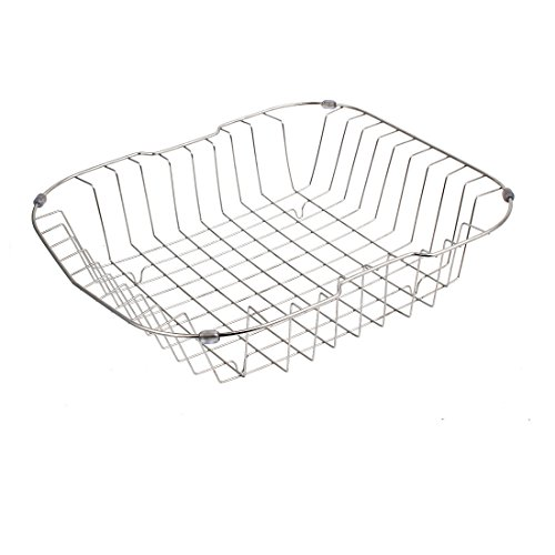 uxcell Kitchen Rack Drainer Storage Holder Stand Sink Caddy 38cmx33cmx9cm by uxcell