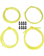 Boaby Fuel Line Hose 1.5 Meters Fuel Line Hose (4 Sizes) With 8 Pieces Fuel Filters, Replacement Set