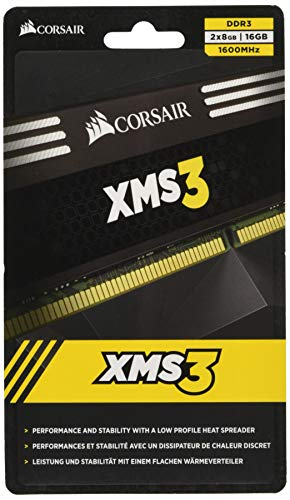 Corsair 16GB XMS3 (2x 8GB) DDR3 SDRAM 1600MHz 240-Pin 16 Dual Channel Kit DDR3 1600 (PC3 12800) CMX16GX3M2A1600C11