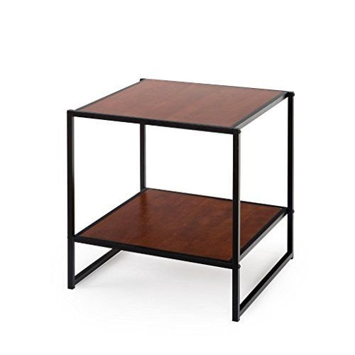 Zinus Modern Studio Collection 20 Inch Square Side / End Table / Night Stand / Coffee Table, Brown