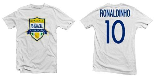 Brazil A Seleção Legend Tee: Ronaldinh - Brazil Soccer Ronaldinho Shopping Results