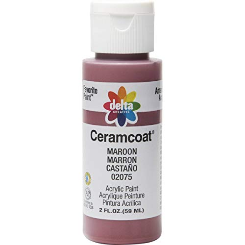 Delta Creative Ceramcoat Acrylic Paint in Assorted Colors (2 oz), 2075, Maroon