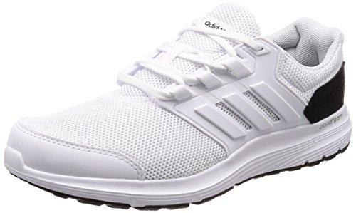 adidas Herren Galaxy 4 M Laufschuhe Elfenbein (Ftwr White/Ftwr White/Core Black)