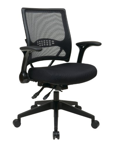 SPACE Seating AirGrid Dark Back and Padded Mesh Seat, Multi