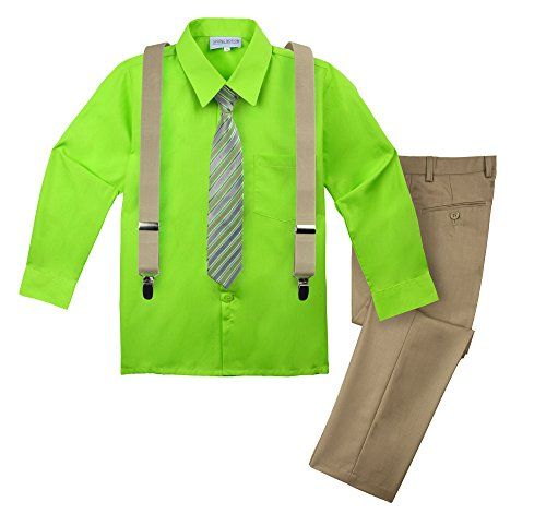 Spring Notion Big Boys' Halloween Inspired 4-Piece Outfit 44 Yoshi (Yoshi Outfit)
