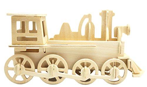 Hands Craft JP302 DIY 3D Wooden Puzzles (Train Engine)