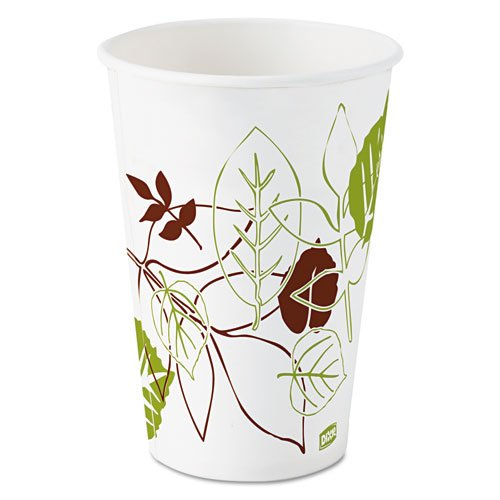 Dixie Pathways Polycoated Paper Cold Cups, 16 oz - Includes 24 packs of 50 each.
