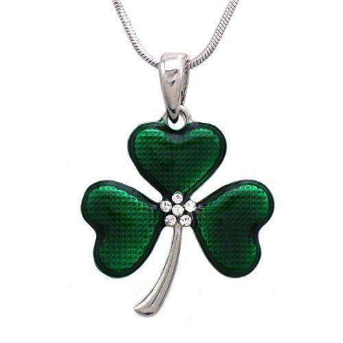 ape Leaf Clover Irish Shamrock Pendant Necklace (Green 3 Leaf) (Shamrock Pendant)